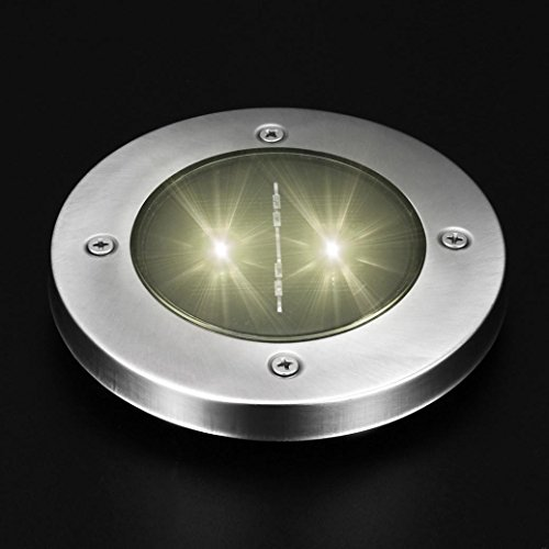 Solar-outdoor-lampen Spot (TWIFER Solar 2 LED Outdoor Pfad Licht Spot Lampe Yard Garten Rasen Landschaft Wasserdicht Nachtlicht (Warmes Weiß))