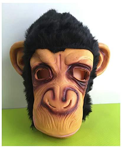 YaPin Halloween Maske Zeigen Tiermaske Großes Ohr Vajra Orang-Utan AFFE Maske Horror Lustige Kopfbedeckung