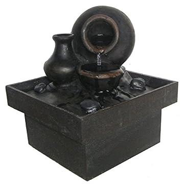Zen Luz SCFR PF7 Pot Interior Fontaine marrón / negro 13 x 13 x 15 cm 3
