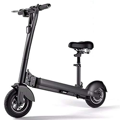 JH Elektro-Scooter, 10 Zoll 500W Naben-Motor Elektro-Scooter Stehen Gefaltete für Erwachsene mit LED (48V 10AH, 12AH, 15AH) Lithium-Batterie-Elektroroller Elektroroller,48V15A
