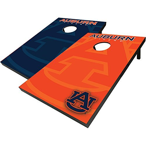 Officially Licensed NCAA Auburn Tigers Football Cornhole Bean Bag Toss with 8 Bean Bags by Bama