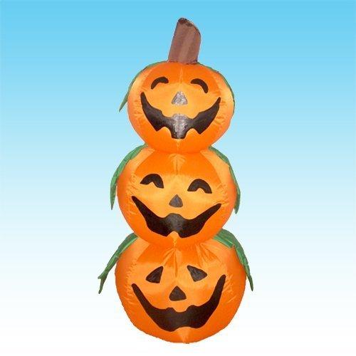 blasbare 3 Jack-O-Lanterns Hof Kunst Dekoration (Aufblasbare Outdoor-halloween-dekoration)