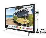 """Sharp 24"""" Smart LED DVD 12v/24v TV with Freeview Play, Satellite, Saorview, PVR, LC-24DHG6132KFM"""