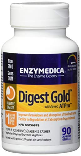 Digest Gold, Essential Digestive Enzymes, 90 Capsules - Enzymedica -
