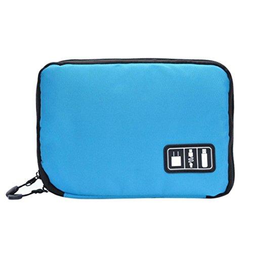 Vovotrade Moda Bella Owl Stampato delle donne della borsa Bauletto Crossbody Borsa a tracolla Messenger (Nero) Blu