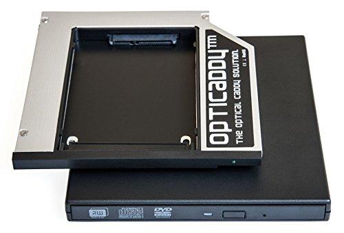 Opticaddy© SATA-3 HDD/SSD Caddy Adapter KIT mit externe USB-Gehäuse für optisches Laufwerk für Lenovo Thinkpad T400, T400s, T410, T410s, T410i, T410si, T420s, T420si, T430s, T430si, T500, T510, T520, W500, W510, W520, W700, W701, W710, X200, X201, X220 - mit Opticaddy OptiSpeed Technologie