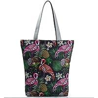 Lavillede Strandtasche, Reisetasche, Einkaufstasche, Schultertasche mit Reißverschluss für Damen und Mädchen (G) h 1