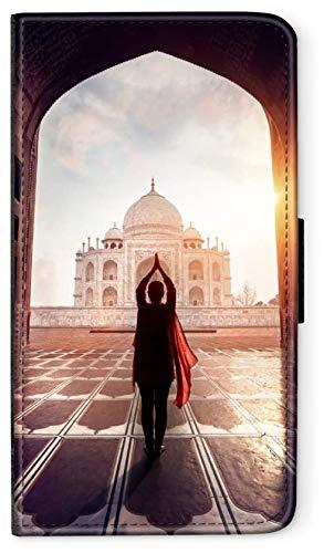 blitzversand Flip Case Indien India kompatibel für Samsung Galaxy A50 Tadsch Mahal 2 Handy Hülle Leder Tasche Klapphülle Brieftasche Etui rund um Schutz Wallet M9