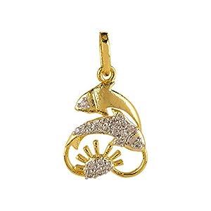 Efulgenz Halskette mit Sternzeichenanhänger versilbert Zirkonia Sternzeichen Fische