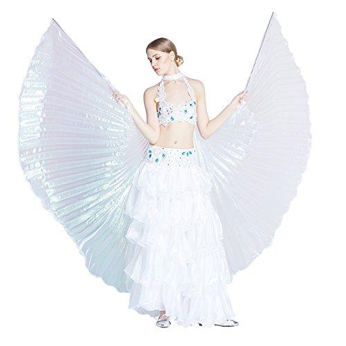 Dance Fairy Bauchtanz Isis Flügel ,Einschließlich (Kleid Weißes Kostüme Dance)