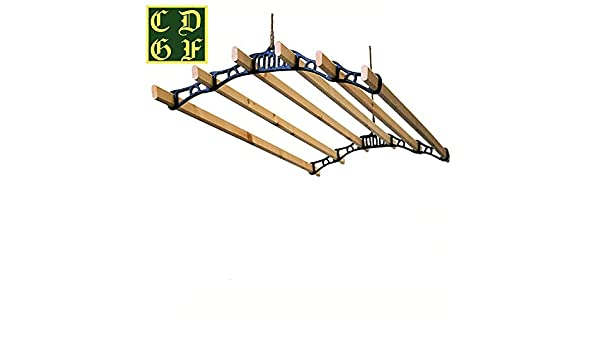 Victorian Clothes Airer Maid AGA kit White Cast Iron