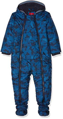 s.Oliver Baby-Jungen Schneeanzug 59.809.85.2759, Blau (Dark Blue AOP 58b2), 80