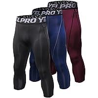 SANANG 3 Pack Pantalon de Compression pour Hommes Baselayer Cool Dry Collant  de Sport Leggings Collants 2320ae1614b