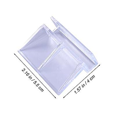 UKCOCO 4 Stücke 6mm Aquarium Glasabdeckung Clips, Aquarium Top Clips, Klar Kunststoffplatten Halterung Regale Support Halter
