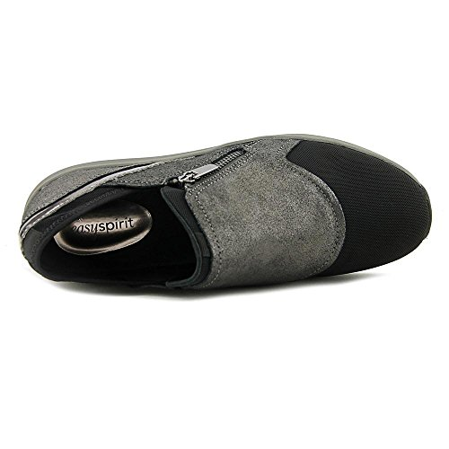 Easy Spirit Idalie Breit Rund Wildleder Slipper Pewter/Multi