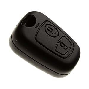 Boitier de clé sans lame de haute qualité ultra résistant pour remplacer votre coque de clé - 2 boutons ouverture/fermeture des portes