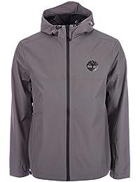 Timberland Mens Waterproof Hooded Jacket In Charcoal Zip Fastening
