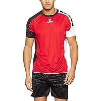 erima Hombre Valencia Camiseta, Hombre, Valencia Trikot, Rojo, Negro y Blanco, 164