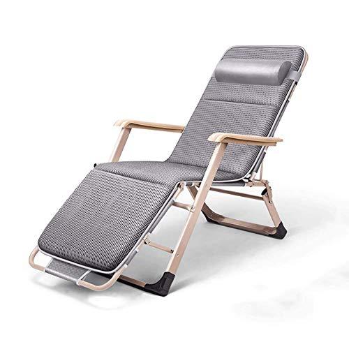 Po Verstellbarer Klappstuhl Für Eine Mittagspause Tragbares Bett Für Den Haushalt Freizeitstuhl Strandkorb Klappbarer Lehnensessel Atmungsaktives,Gray -