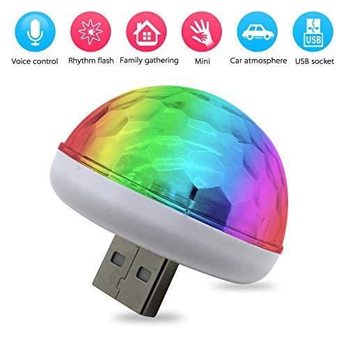 LED Auto USB-Atmosphärenlicht, Tragbare USB Party Lights Mini Discokugel für Weihnachten/Brithday/Hochzeit/Club/Karaoke-Dekorationen