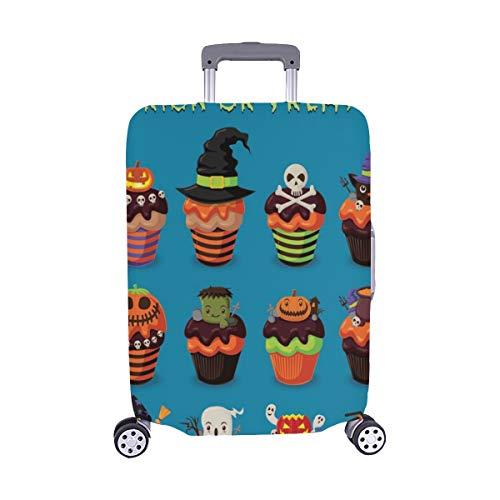 (Nur abdecken) Vintage Halloween Poster Design Cupcake Set Spandex Staubschutz Trolley Protector case Reisegepäck Schutz Koffer Abdeckung 28,5 X 20,5 Zoll