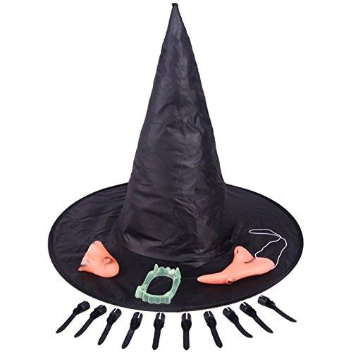 die hexe hut nase kinn nägel zähne hexe fünf sätze von halloween - kostüm gegenstände requisiten cosplay requisiten hexe anzug (Halloween-make-up Zu Kaufen)