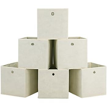 Kiste Set Of 3 Folding Canvas Storage Boxes Unit In