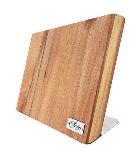 OLEIO qualitätives Magnetisches Messerbrett - magnetischer Messerblock aus Holz, ohne Messer