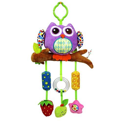 EinsAcc Fisch Hängende Sprach Musik Spielzeug Mobile Kaninchen Spielzeug für Baby (eule)