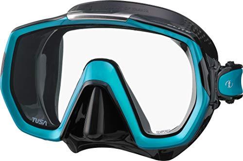 Tusa Freedom Elite - Tauchmaske schnorchelmaske Erwachsene - Schwarz Ocean Green Ocean Green