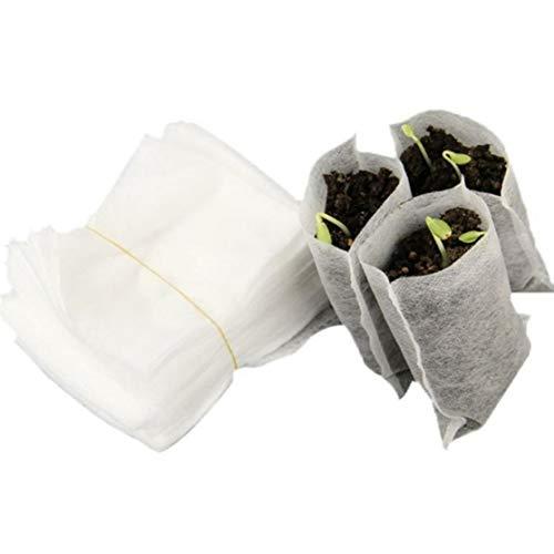 LouiseEvel215 100 Teile/Beutel Biologisch Abbaubar Samen Samen Kindergarten Taschen Kindergarten Blumentöpfe Gemüsetransplantation Zucht Töpfe Garten Pflanzen Tasche -