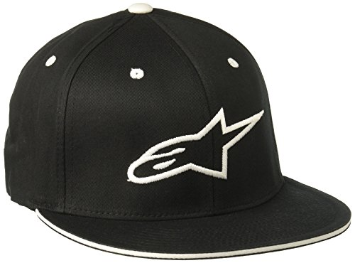 Alpinestars Herren Hat Ageless Flat Logo Flat Bill Flex Back Black/White
