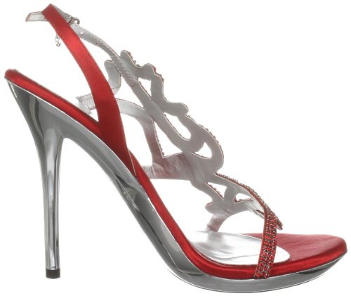 Unze Evening Sandals, Sandali donna Rosso (Rot (L18232W))
