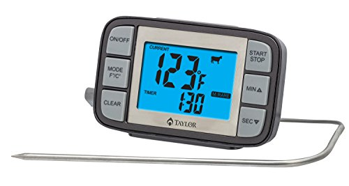 Taylor Grill Digitales Thermometer mit Sonde Timer