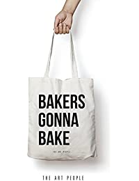 Bakers Gonna Bake Tote Bag Reusable Grocery Bag Machine Washable Canvas Shopping Bags With Long Handy Straps –...