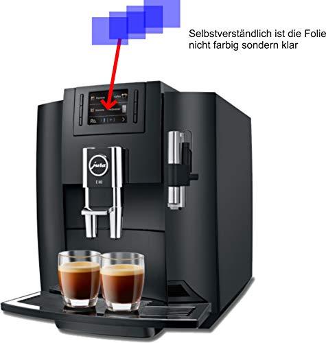 4X Crystal Clear klar Schutzfolie für Jura E80 Piano Black 15083 Kaffeevollautomat Displayschutzfolie Bildschirmschutzfolie Schutzhülle Displayschutz Displayfolie Folie