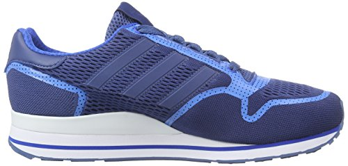 adidas Zx 500 Techfit, Low-Top Sneaker homme bleu (Ash Blue S15-St/Bluebird/Ftwr White)