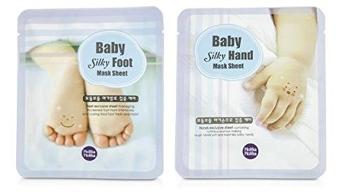 Holika Holika®- Baby Silky Hand Maske + Fuß Foot Maske Set - Handmaske + Fußmaske - Maniküre / Pediküre