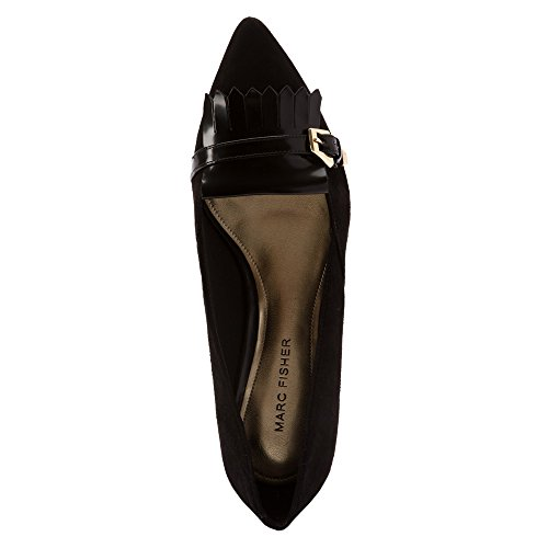 Marc Fisher Talley Femmes Daim Chaussure Plate Black
