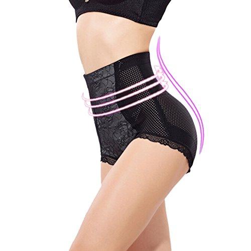 Feltion Damen Körperformung Unterhose Hohe Taille Hose Postpartale Bauch Taillenslips Body Sculpting Hosen Schwarz