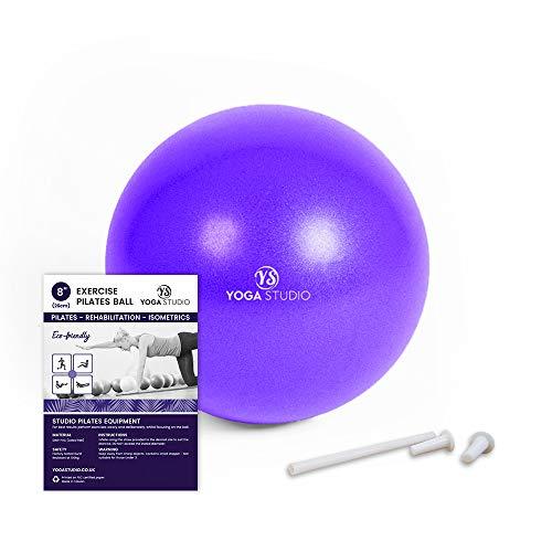 "YogaStudio Exercise Fitness Stability Gym Yoga Pilates Balls (8"" Zoll Lila)"
