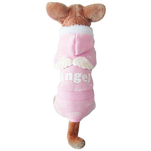 g Design Kapuze Pet Hunde Fell Rose S (Hund Angel Kostüme)