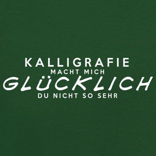 Kalligrafie macht mich glücklich - Herren T-Shirt - 13 Farben Flaschengrün