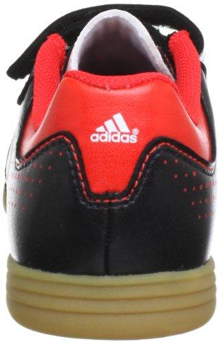 adidas 11Questra Triple HL Hallensportschuh Junior, Q23916 Schwarz (black 1 / running white ftw / hi-res red f13)
