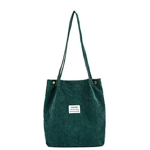 Damen Handtaschen Mode Frauen Cord Umhängetasche Pure Color Schultertasche Satchel Tote Handtasche Reisetasche Stoffbeutel Beutel Shopper viele Farbe Felicove