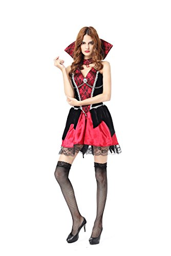 CWZJ Halloween Lady Rolle Spielen Horror-Charakter Vampir-Teufel Kostüm Cosplay ()