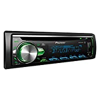 Pioneer 50X4 CD-Receiver, Bluetooth, MP3, WMA, Front-AUX, USB, iPod/iPhone, 2 Pre-Out, RDS, Subwoofer Control - DEH-S5050BT