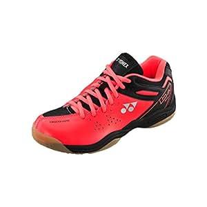 Yonex SHB02JREX Badminton Shoes, Junior UK 2 (Bright Red)