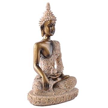La Figurita Tonalidad De La Piedra Arenisca De Buda Joss Escultura Estatua Tallada A Mano 7