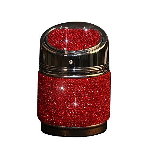 fervory Auto-Aschenbecher, Diamant, für den Aschenbecher im Auto, universell einsetzbar rot
